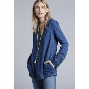 NWT-Free People Dreaming of Denim Pullover Tunic